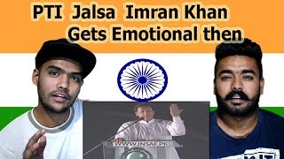 Indian reaction on PTI Jalsa Live Imran Khan Gets Emotional Minar-e-Pakistan Lahore | Swaggy d