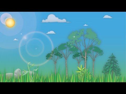 Cartoon Landscape in Adobe Illustrator