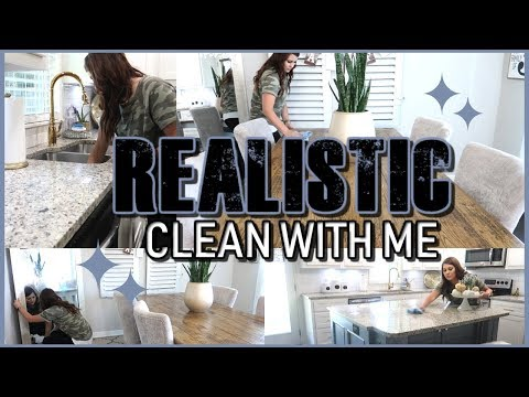 REALISTIC CLEAN WITH ME   CHATTY CLEANING   CLEANING ROUTINE