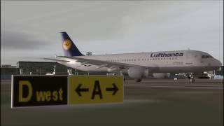 FS2004 Lufthansa A320 Frankfurt - Flesland Part 1 HD