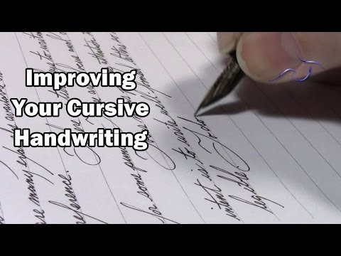 Improving Your Cursive Handwriting - YouTube