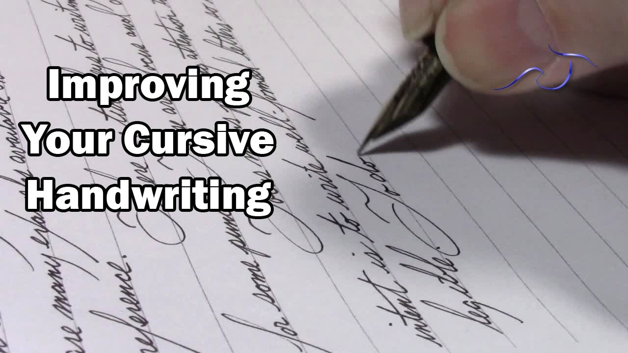 Worksheets World Best Hand Writing In English improving your cursive handwriting youtube handwriting
