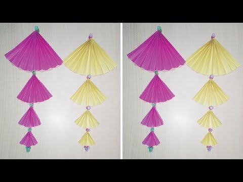 How to Make Beautiful Paper Wall Hanging || Very Easy And Simple Paper Origami