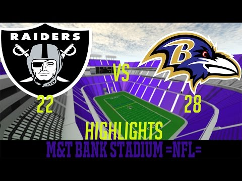 =NFL= ROBLOX Football League: Raiders VS Ravens HighLights