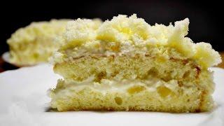 "ИТАЛЬЯНСКИЙ ТОРТ ""МИМОЗА"" | Ананасовый торт на 8 марта | Torta Mimosa |  Italian Mimosa Cake Recipe"