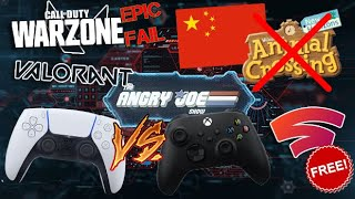 AJS News - China Bans Animal Crossing, PS5 Controller Revealed, COD: Warzone RAGE, Stadia Now FREE!