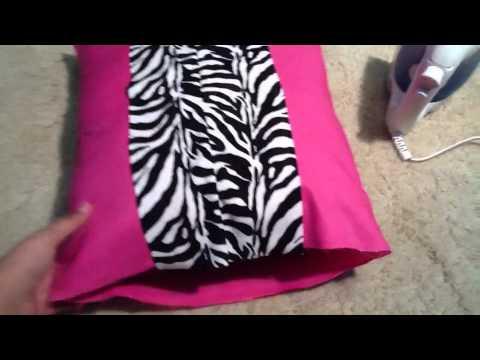 DIY Zebra Print Pillow Case & DIY Zebra Print Pillow Case - YouTube pillowsntoast.com