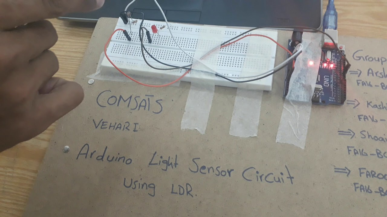 Arduino Project Light Sensor Circuit Using Ldr Comsats Vehari