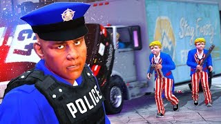 Playing as a POLICE OFFICER in the PURGE! (GTA 5)