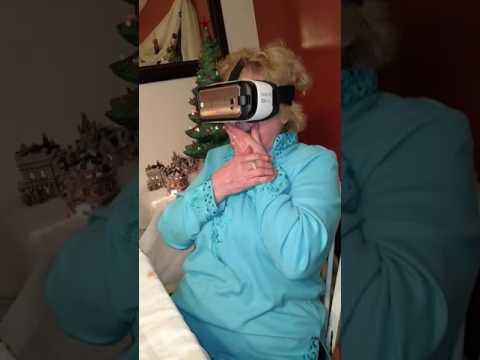 Grandma's virtual reality rollercoaster ride.