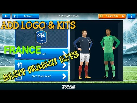 How to Import France Logo and Kits In Dream League Soccer 2019