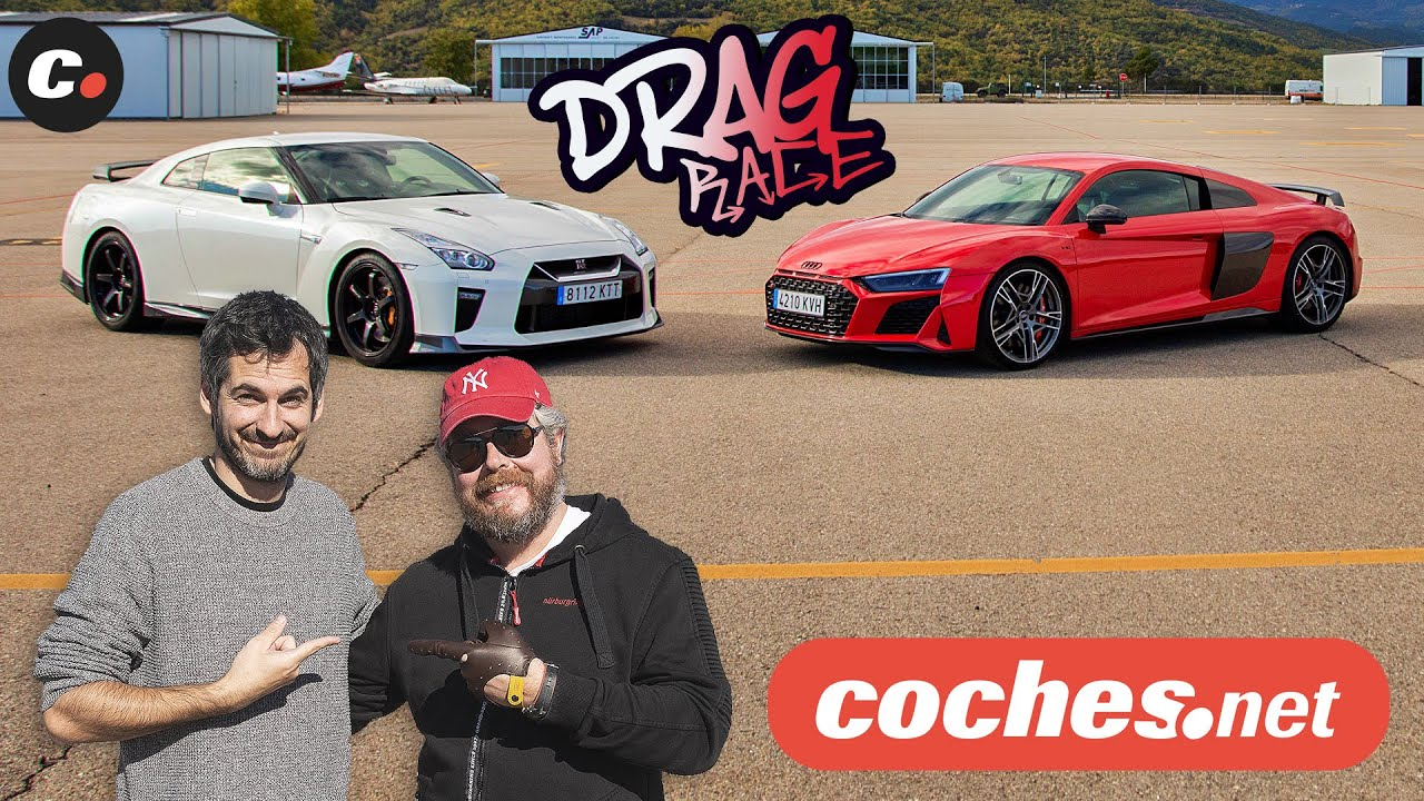 Drag Race Audi R8 V10 Performance Vs Nissan Gt R Track Edition Coches Net Youtube