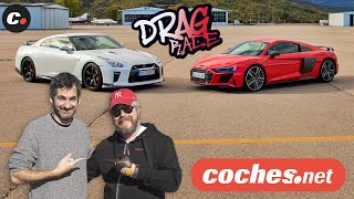 DRAG RACE Audi R8 V10 performance vs Nissan GT-R Track Edition  | coches.net