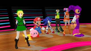 (MMD) Nintendo and Sega dance Cha cha slide