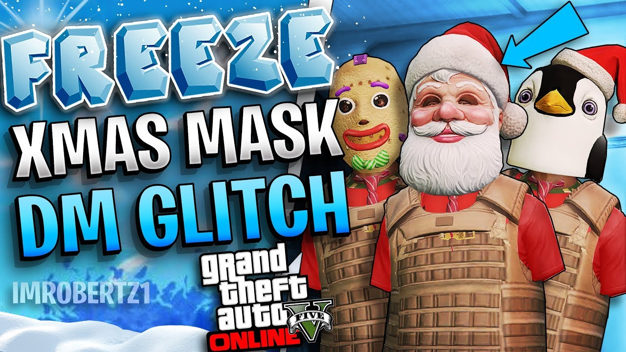 All Gta Christmas Masks.All Solo Freeze Christmas Mask Director Mode Glitch