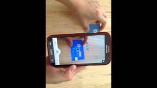 الواقع المعزز بطاقة الأعمال مع Playme ع