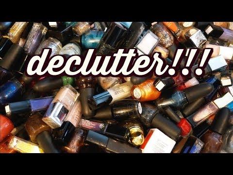 MASSIVE Nail Polish Declutter!