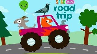 Sago Mini В Путь-Дорогу/Кошка Джинджа за рулем веселый мультик игра