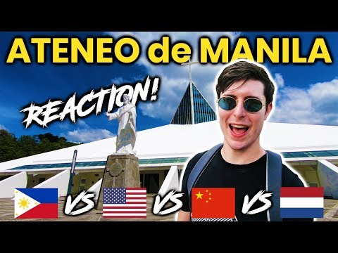 Foreigner Reacts to Ateneo de Manila University (ADMU)! FILIPINO UNIVERSITY TOUR!