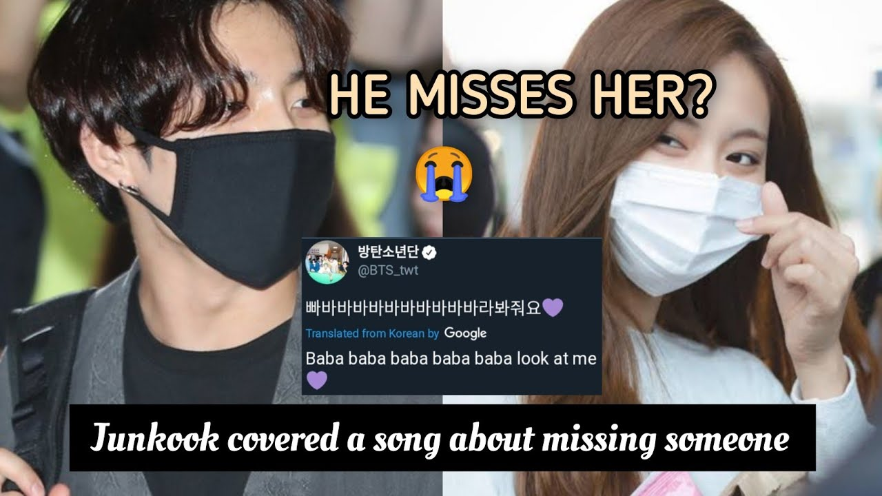 Jungkook covered a song about missing someone | the hyungs knows