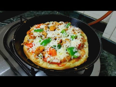 How to Make Chicken Pizza At Home Without Oven
