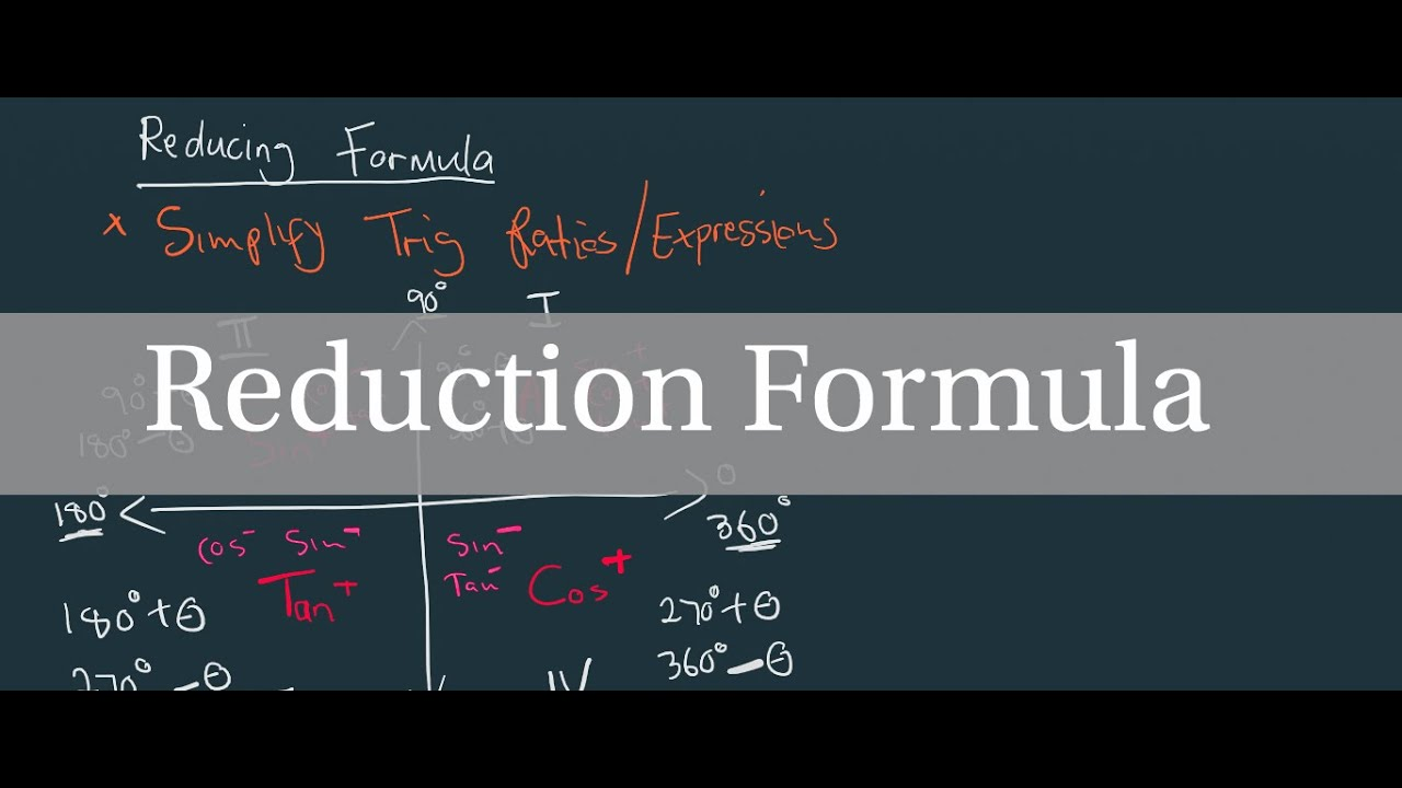 Reduction Formula  Cast Diagram
