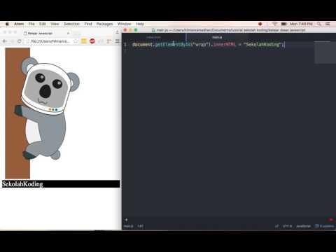 Cara Menghubungkan Javascript Ke Html