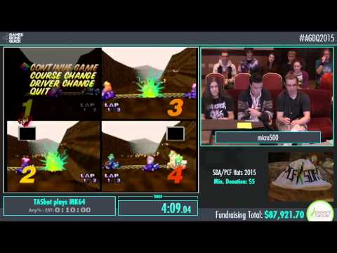 TASbot plays MK64 by micro500 and Weatherton in 12:16 - AGDQ2015 - Part 6