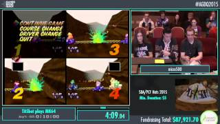 Awesome Games Done Quick 2015 - Part 6 - TASbot plays MK64 by micro500 and Weatherton