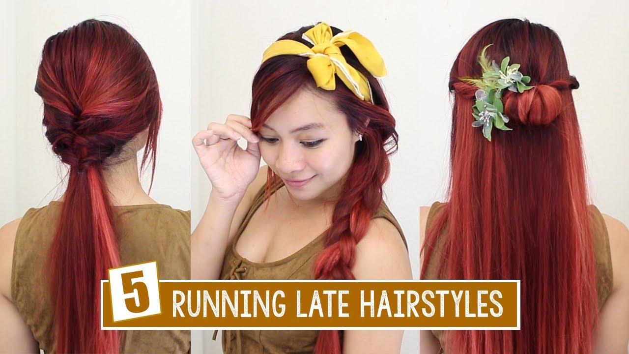 5 running late hairstyles heatless