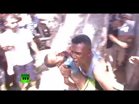 RAW: Panic, death, Hamas rockets, Israeli airstrikes - RT camera inside Gaza