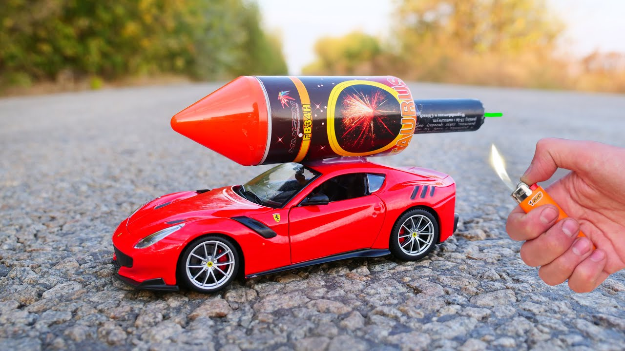 Download EXPERIMENT: XXL ROCKET INSTEAD OF THE ENGINE IN A CAR
