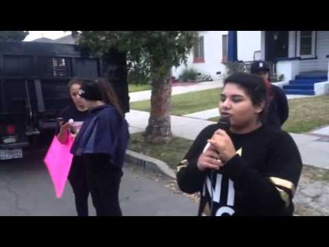 Justice for #NoelAguilar March in Long Beach, CA