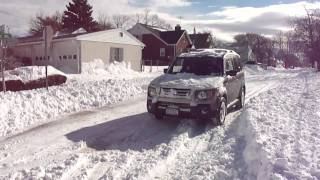 Real Time 4WD 08 Honda Element  In Blizzard 2010