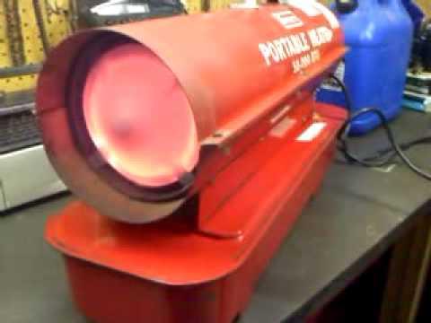 Heater For Garage >> Sears kerosene 50,000 btu heater - YouTube