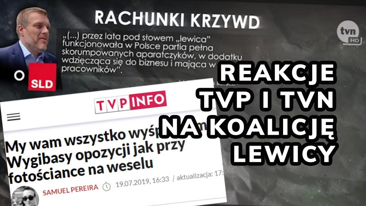 Jak zareagowali w redakcjach TVP i TVN na lewicową koalicję?