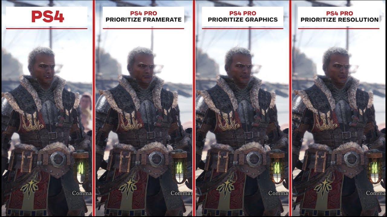 Monster Hunter World Graphics Comparison: PS4 vs  PS4 Pro