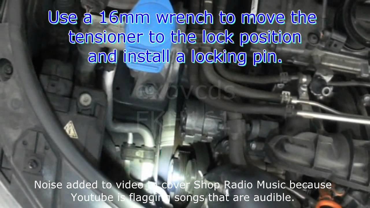 Audi 8p  A3 2 0t Fsi Serpentine Belt Removal