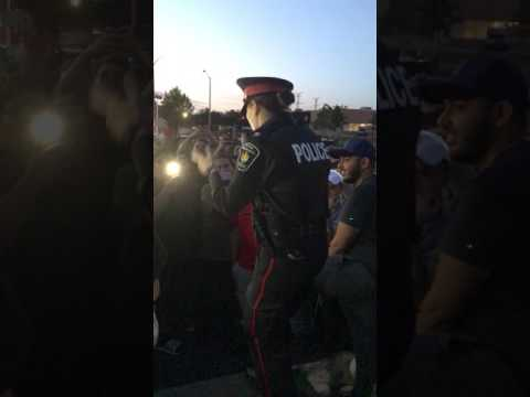 MEANWHILE IN CANADA. POLICE RAPPER