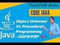 Main difference between procedural and object oriented programming  language ~~ OOPS vs POP