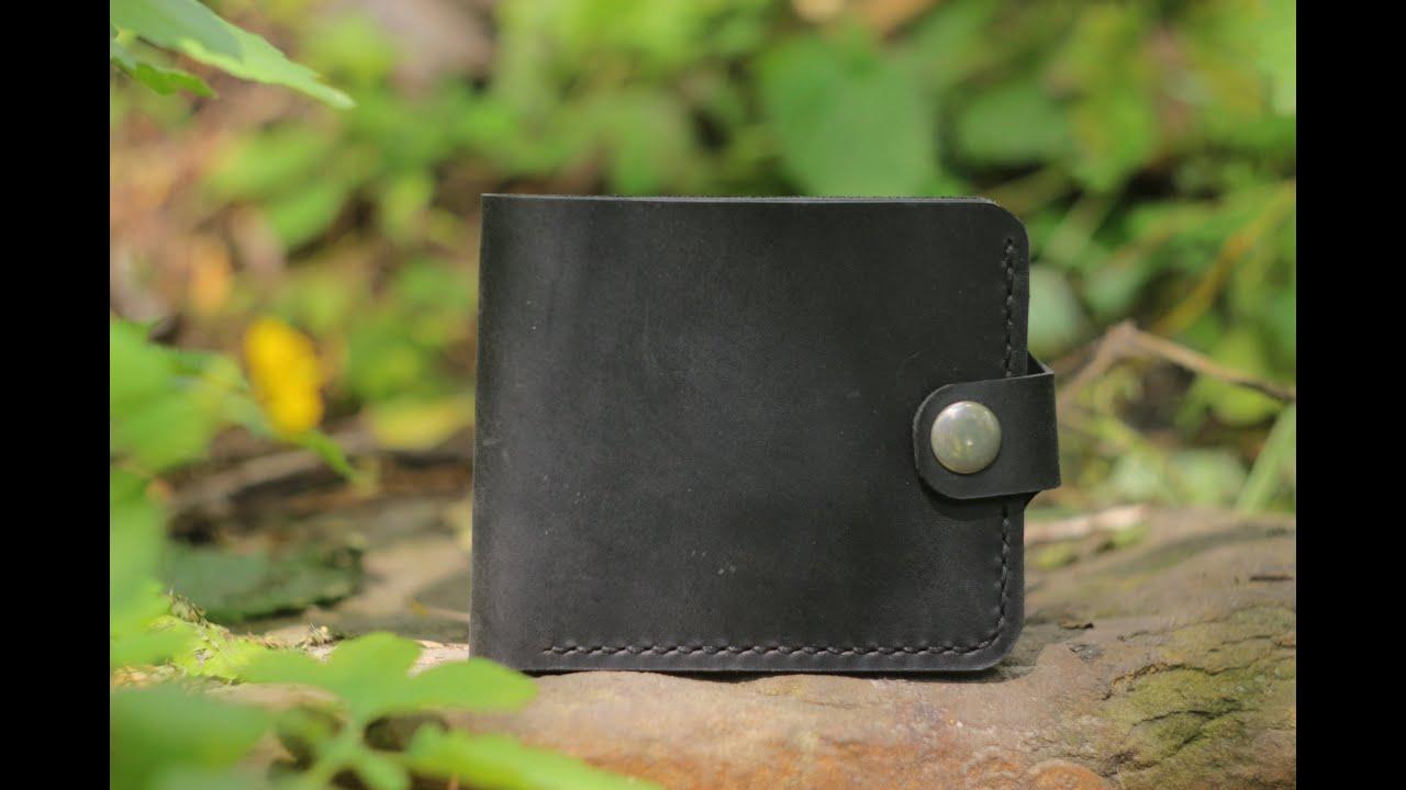 Женское кожаное портмоне ручной работы BlankNote 3.0 клубника .