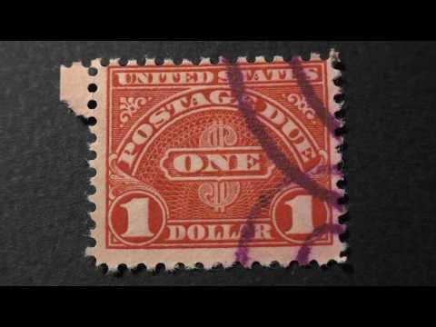 Postage Stamp. USA. POSTAGE DUE. Price 1 Dollar
