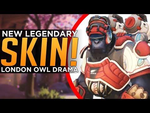 Overwatch: NEW Winston Legendary Skin! - Spitfire vs. Dynasty OWL Drama