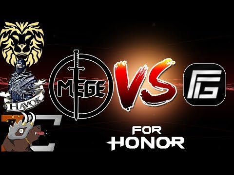 [For Honor] Mege + Havok + Zer0_Craic + mGoldie VS Competitive Players! - Tribute Mode Gameplay