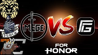 connectYoutube - [For Honor] Mege + Havok + Zer0_Craic + mGoldie VS Competitive Players! - Tribute Mode Gameplay