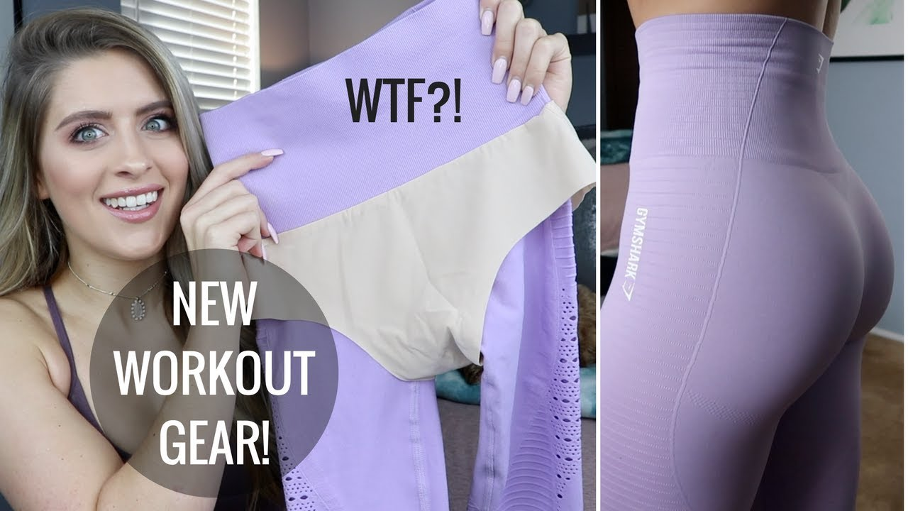 e6b19a9b3917f8 WTF?! NEW WORKOUT CLOTHES | Gymshark Energy Seamless Review & Try On ...
