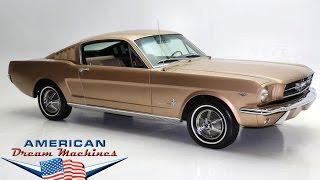 1965 Gold mustang