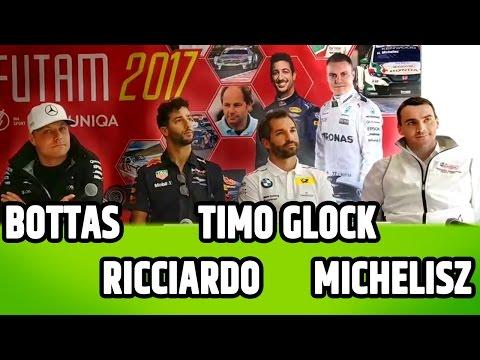 Bottas, Ricciardo, Michelisz Norbi Timo Glock | ÉLŐ sajtótájékoztató