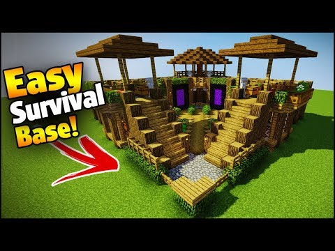 Minecraft: 3 Player Ultimate Survival Base - Easy Tutorial (Everything You Need To Survive!)