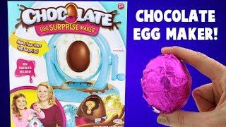 Chocolate Egg Surprise Food Maker! Make Your Own Chocolate Egg with a Surprise Inside!
